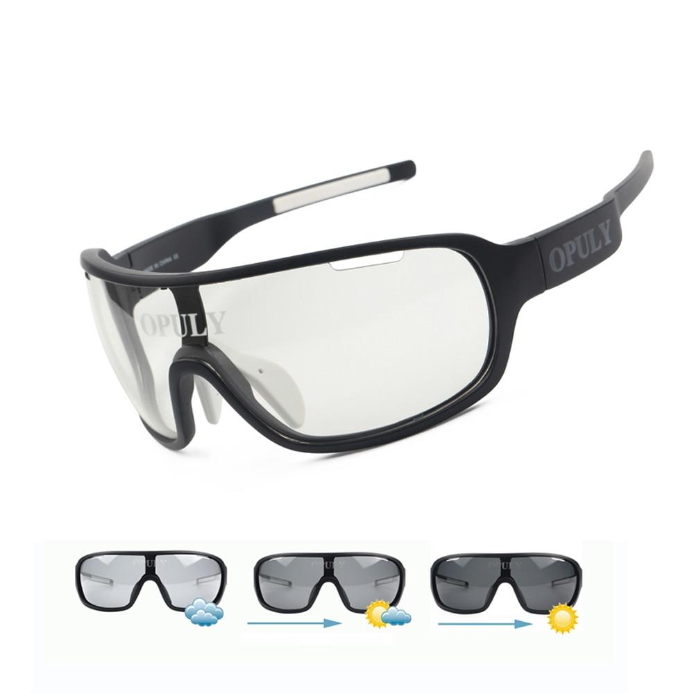 Lunettes de vélo de transition polarisée photochrome 3/4 Lens Kit lunettes de soleil (blanc, 3 lentille)