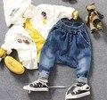 Sólo los pantalones vaqueros 1 unid 2-8Y nuevos 2017 niños resorte de la manera floja pantalón de mezclilla jeans infantil chicos vaqueros niños pantalones niños baggy pantalones