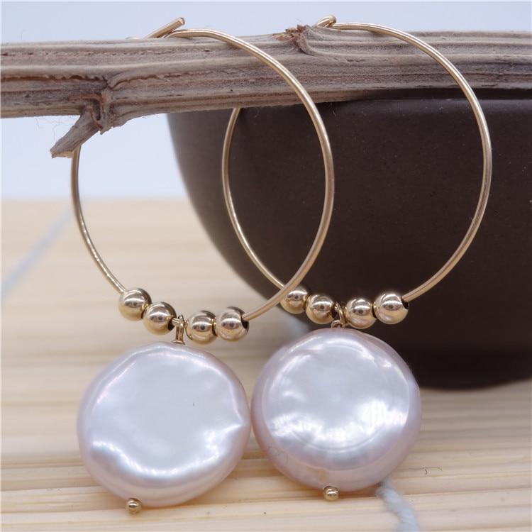 Eternal parola Regalo di cerimonia nuziale Delle Donne 925 Sterling Silver reale La perla naturale orecchini a forma di piatto grande Perla Viola grande orecchio