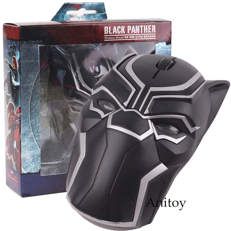 Marvel Comics Original Marvel Toys Black Panther Ant-Man Ant Man Bluetooth Wireless Mouse Action Figure Led Lighting hot toys marvel avengers statues ironman ant man thanos black panther action figure home decoration gift ant man antman iron man statue