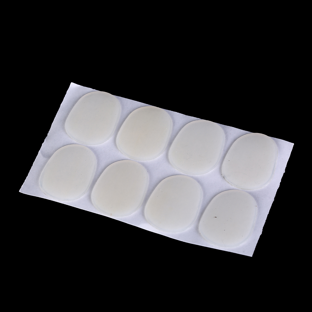 8Pcs Silicone Soprano Saxophone Sax Mouthpiece Patches Pad Cushions 0.8mm
