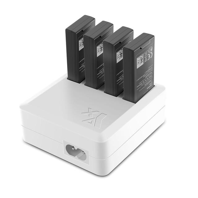 TELLO Ladegerät 4in1 Multi Batterie Lade Hub für DJI TELLO 1100mAh Drone Intelligente Flug Batterie Schnell Lade UNS/EU Stecker