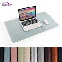 1200*600mm Large Gaming Mousepad Locking Edge PU Leather Front Back Double Use Mouse Mat Office Desktop Laptop Big Mouse Mat