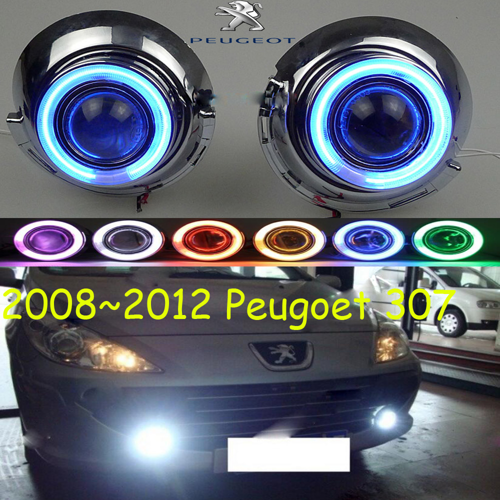 307 fog light LED,2008~2012;Free ship!307 daytime light,2ps/set+wire ON/OFF:Halogen/HID XENON+Ballast, 307 bqlzr dc12 24v black push button switch with connector wire s ot on off fog led light for toyota old style