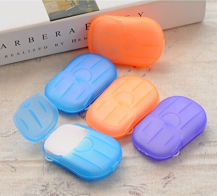 Бесплатная доставка 7 см x 4.5 см смешанных Цвет Многофункциональный 10 шт./лот мытья рук здоровье Смарт Carryon Мыло с Пластик коробка