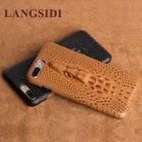 Langsidi هندفون اليدوية كاملة مخصصة 3d صنبور الصلب قذيفة نصف الهيكل الجلود الغطاء الخلفي الملصقة آيفون 5 5 ثانية نماذج