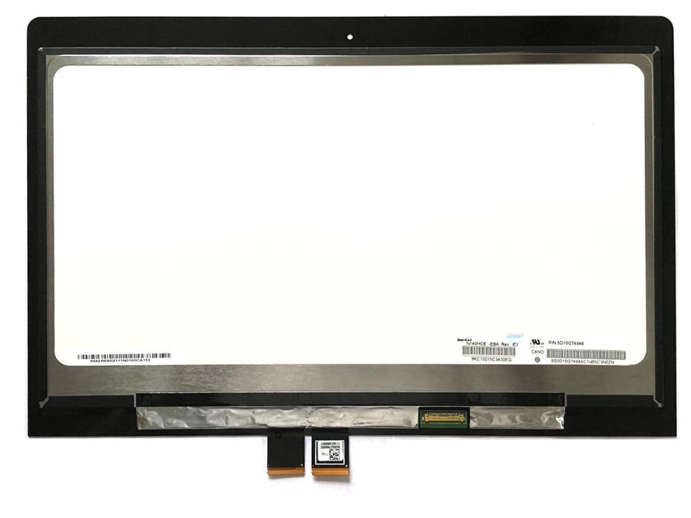 NEW LAPTOP LCD screen assembly touch digitiser + LCD screen For Lenovo 14 Flex 3 14 Yoga 500, resolution : 1920*1080