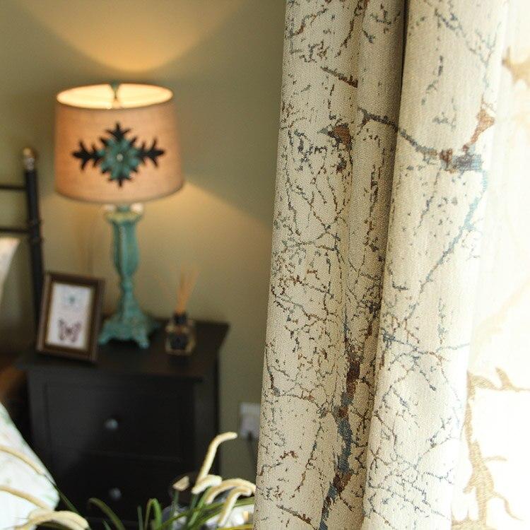 custom  curtain chenille American European simple line living room bedroom windows shading blackout curtain drape tulle M160