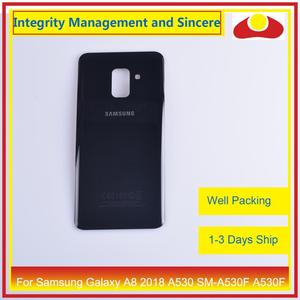 Image 3 - 50Pcs/lot For Samsung Galaxy A8 Plus 2018 A730 SM A730F A730F Housing Battery Door Rear Back Cover Case Chassis Shell A8+ Cover