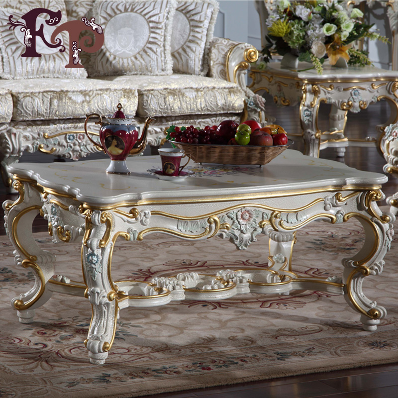 French Country Furniture European Solid Wood Coffee Table