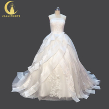 Rhine Real Sample Image Pictures Strapless Organza Sexy Ball Gown Bridal Wedding Gown wedding dresses