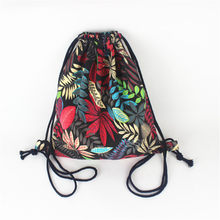 2019 Women Backpack National Canvas Drawstring Bagpack Vintage College Student Girls Casual travel bag daily Mochila Feminina(China)