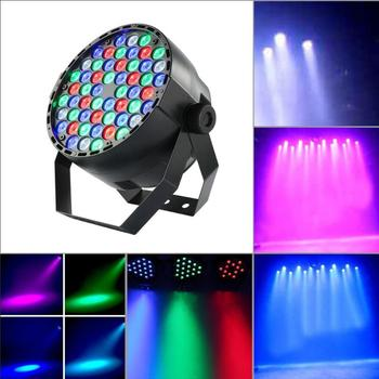 54 projektor LED lampy kolorowe etap światła etapie tle KTV DJ lampa miejscu dekoracja świetlna oświetlenie krajobrazu 3 tryby sterowania
