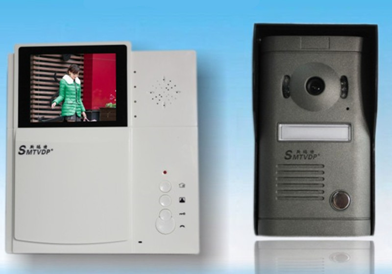 цена на 4.3 Inch TFT Monitor IR Night Vision Video Door Phone V3B-P