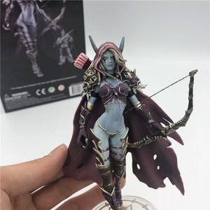 Sylvanas Windrunner Darkness Ranger Lady Action Figure Orc Figure For Collection Toys PVC Model 14cm