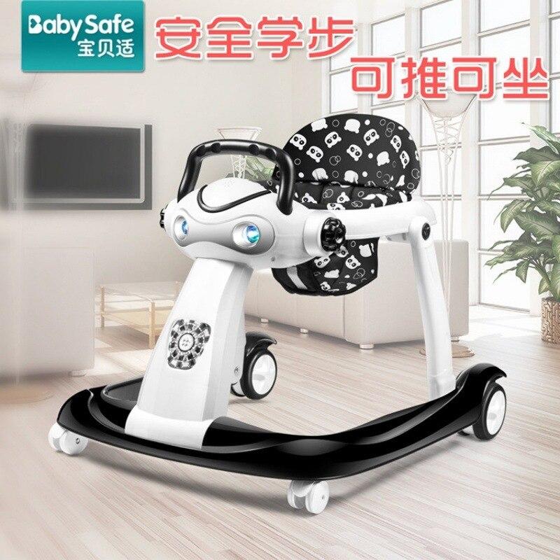Le marcheur de vitesse réglable de prévention de renversement de bébé multifonctionnel peut pousser Foldablfor le marcheur de bébé infantile 6-24 mois