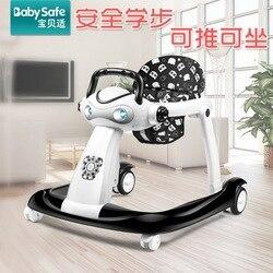 Multi-function Baby Rollover Prevention Adjustable Speed  Walker Can Push Foldablfor Infant Baby Walker 6-24 Months