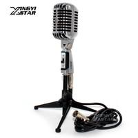 Berufs Wired Vintage Mikrofon Halter Dynamische Mic & XLR Männlich zu Weiblich Kabel Für Sänger KTV Karaoke Audio Mixer Verstärker