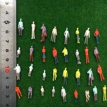 500pcs/lot architecture model n scale figure in ho train layout plastic materials 1/150 30pcs lot 2018 colorful ho n oo architectural scale model abs plastic green trees 3 10cm model train landscape tree layout