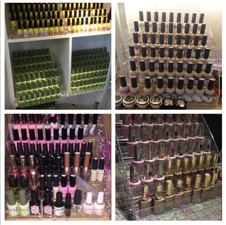 Nail polish display shelf acrylic nail box to receive nail glue shelf cosmetic boxes in Storage Holders Racks from Home Garden