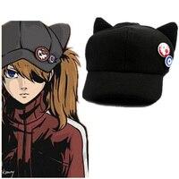 קוספליי אנימה Evangelion 3.0: ש Shikinami אסוקה כובע כובע עם תגי אוזן חתול שחור חדש kawaii שווי Vestidos סופרסטאר העיר