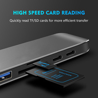 card reader USB C Type-C HUB to 4K HDMI Adapter with Thunderbolt 3 /USB 3.0 /TF SD Card Reader Slot Support PD Charging for MacBook Pro 2017 (5)