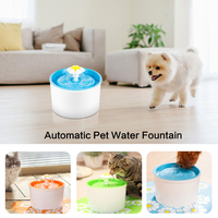 Automatic Pet Water Fountain Electric Pet Dog Bowl Water Drinking Dispenser Filter Green Blue Flower Style