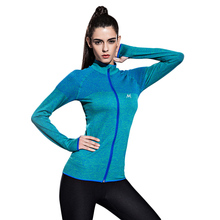 HTLD Quick Dry Women Jackets Stand Collar Slim Tops Workout