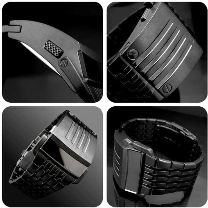 ที่ไม่ซ้ำกัน Iron Man นาฬิกาสเตนเลสดิจิตอล LED ทหารนาฬิกาข้อมือกีฬานาฬิกาแฟชั่นแบรนด์ใหม่ชายนาฬิกา