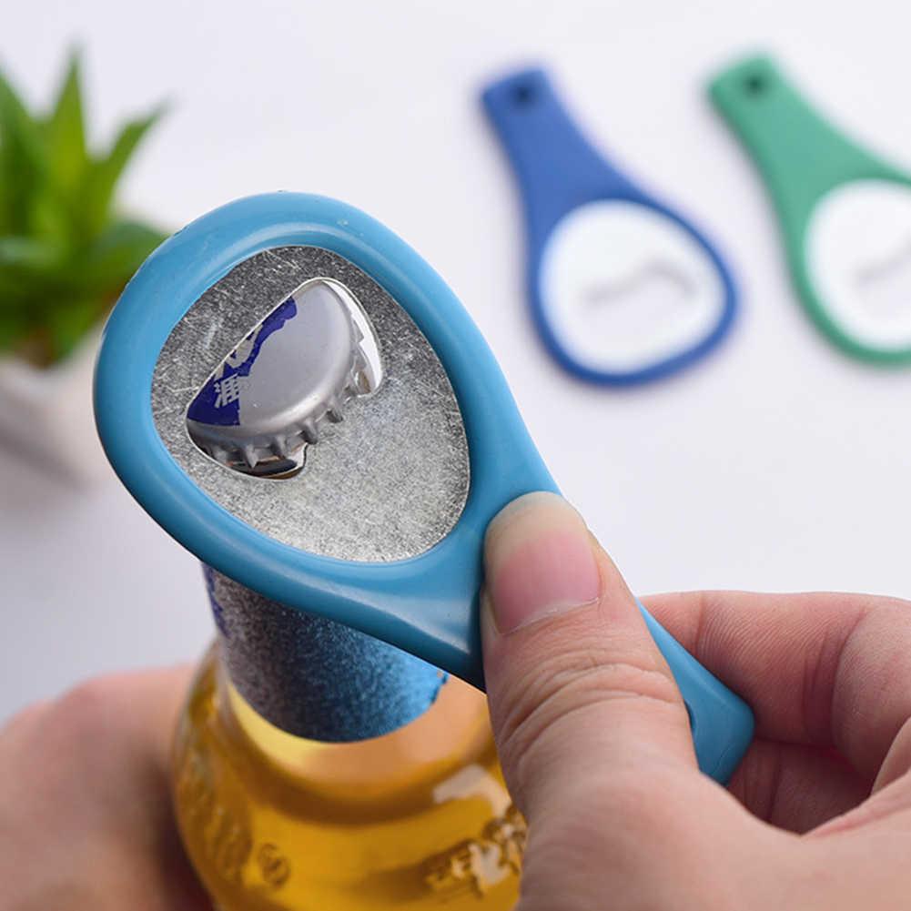 PCS Mini Tennis Schläger Kreative Bier Flasche Opener Tool Gadget Kühlen Ring Schlüssel Ring Opener Farbe Zufällig