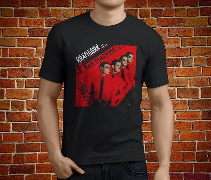 KRAFTWERK Man Machine Electronic Band Legend T-Shirt MenS Short Sleeve T shirt Cotton Printed Pure Cotton MenS