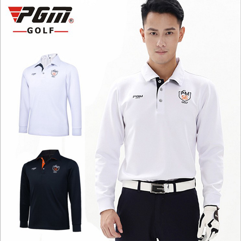 Pgm brand high quality mens outdoor dri fit golf polo for Long sleeve golf polo shirts