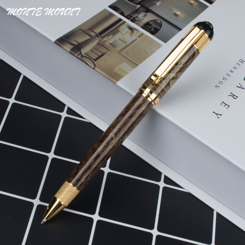 цены MONTE MOUNT Metal Ballpoint Pen 0.7mm Luxury Advertising Ball Pen for School Gift Set Student Stationery Office Supplies