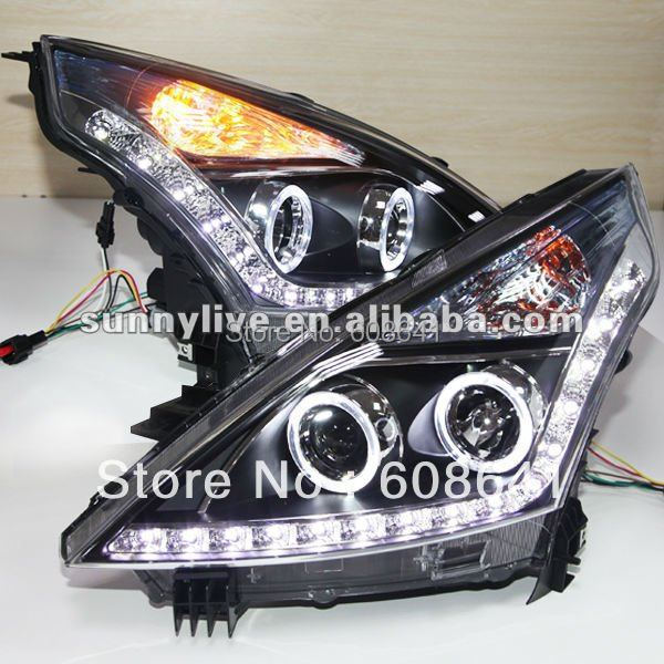For NISSAN Teana Angel Eyes LED Headlight 2008 to 11 V3