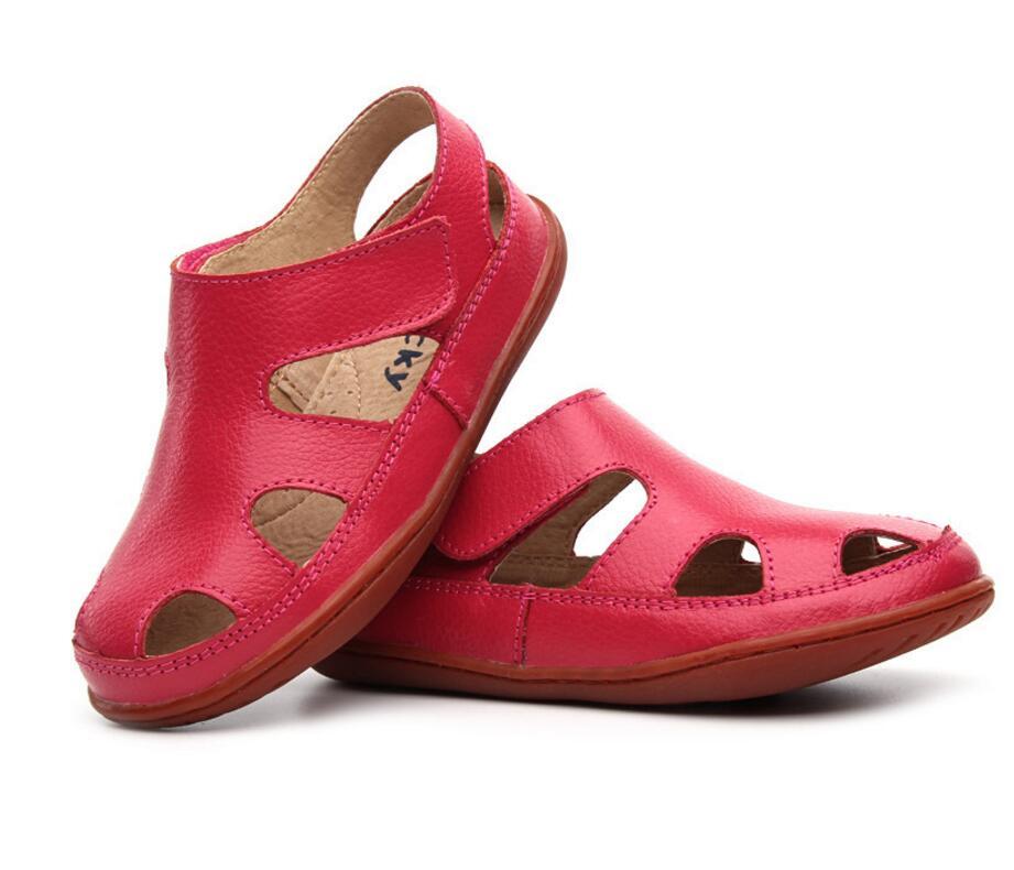 Children's leather sandals-23