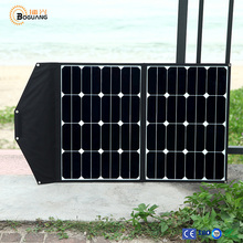 Solarparts 1x 60W solar panel charger high efficiency flexible and portable PV power bank battery USB cable camping outdoor use.