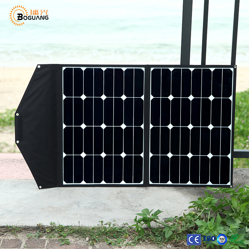 Solarparts 1x 60W solar panel charger high efficiency flexible and portable PV power bank battery USB cable camping outdoor use. 1800mah portable solar power solar power battery pack for cell phones and usb gadgets