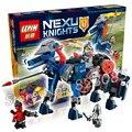 255 шт. 14002 Рыцарей лэнса Меха Лошадь Jestro Копье кирпичи модель строительные блоки игрушки Nexus Совместимо С Lego
