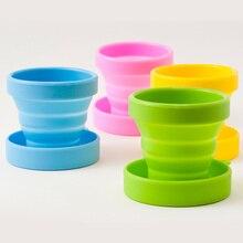 Посуда для напитков, кофейная чашка, одноцветная, для воды, складная чашка для полоскания, для путешествий, для чая, стеклянная чашка, силиконовые чашки, для путешествий, портативная