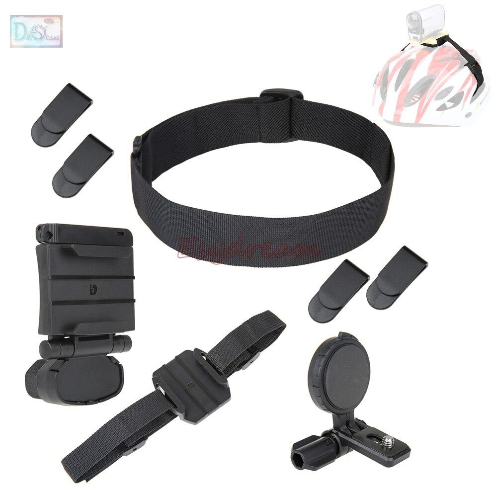 Cabeza del casco montaje Kit de montaje para cámara de acción Sony HDR-AS15 HDR-AS30V HDR-AS100V HDR AS20 AS30V AS200V AS100V como BLT-UHM1