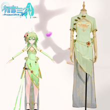 Vocaloid Project Diva GUMI Organza TDA Cheongsam Cosplay Costume kisstyle fashion vocaloid gumi happy synthesizer uniform cos clothing cosplay costume customized accepted