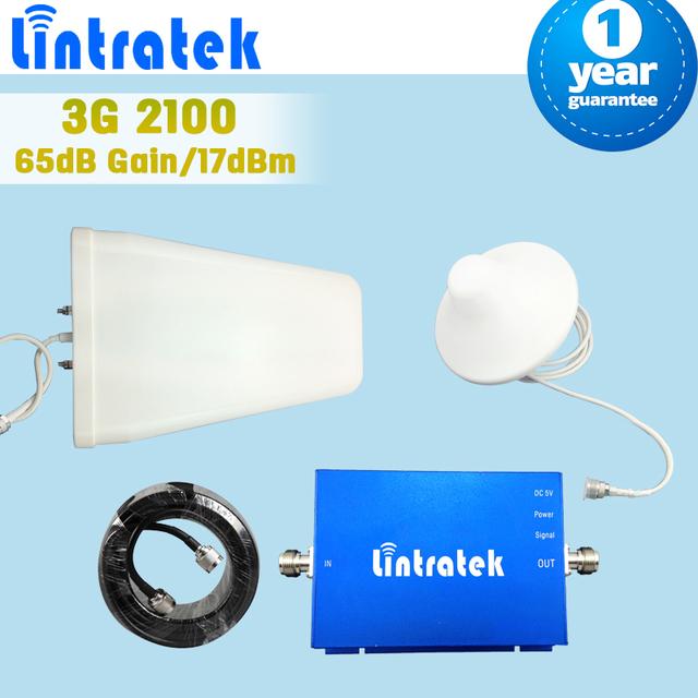 Kit completo 3G 2100 MHz teléfono celular repetidor 3G UMTS WCDMA Móvil Celular Amplificador de Señal 3G HSPA Booster 3G Repetidor + antena