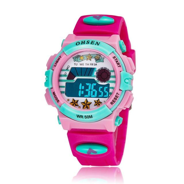Roseo Children Sports Watches LED Digital Quartz Watch Outdoor Waterproof Wristwatches Relogio  femininity 1603-3