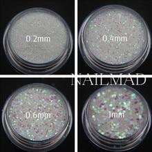 1 box Pixel Effect Nail Glitters Mermaid Green Glitter Sequins Iridescent Nail Sparkle Manicure Makeup Nail Art Decoration