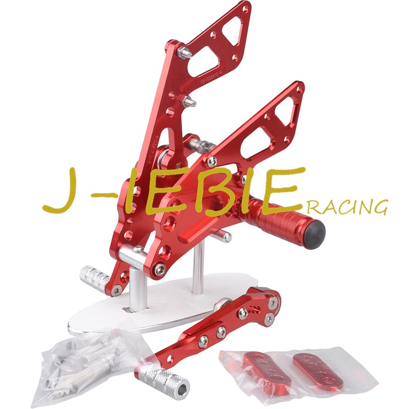 CNC Racing Rearset Adjustable Rear Sets Foot pegs Fit For Suzuki GSXR1000 GSXR 1000 2009-2016 K9 RED titanium cnc aluminum racing adjustable rearset foot pegs rear sets for yamaha mt 07 fz 07 mt07 fz07 2013 2014 2015 2016
