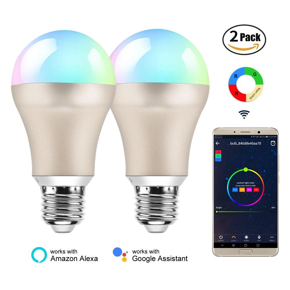 BB haut-parleur lampe à LED Rgb Wifi ampoule intelligente E27/220 V lumière intelligente ampoule intelligente/Wifi/Alexa/Google accueil App télécommande ampoules intelligentes