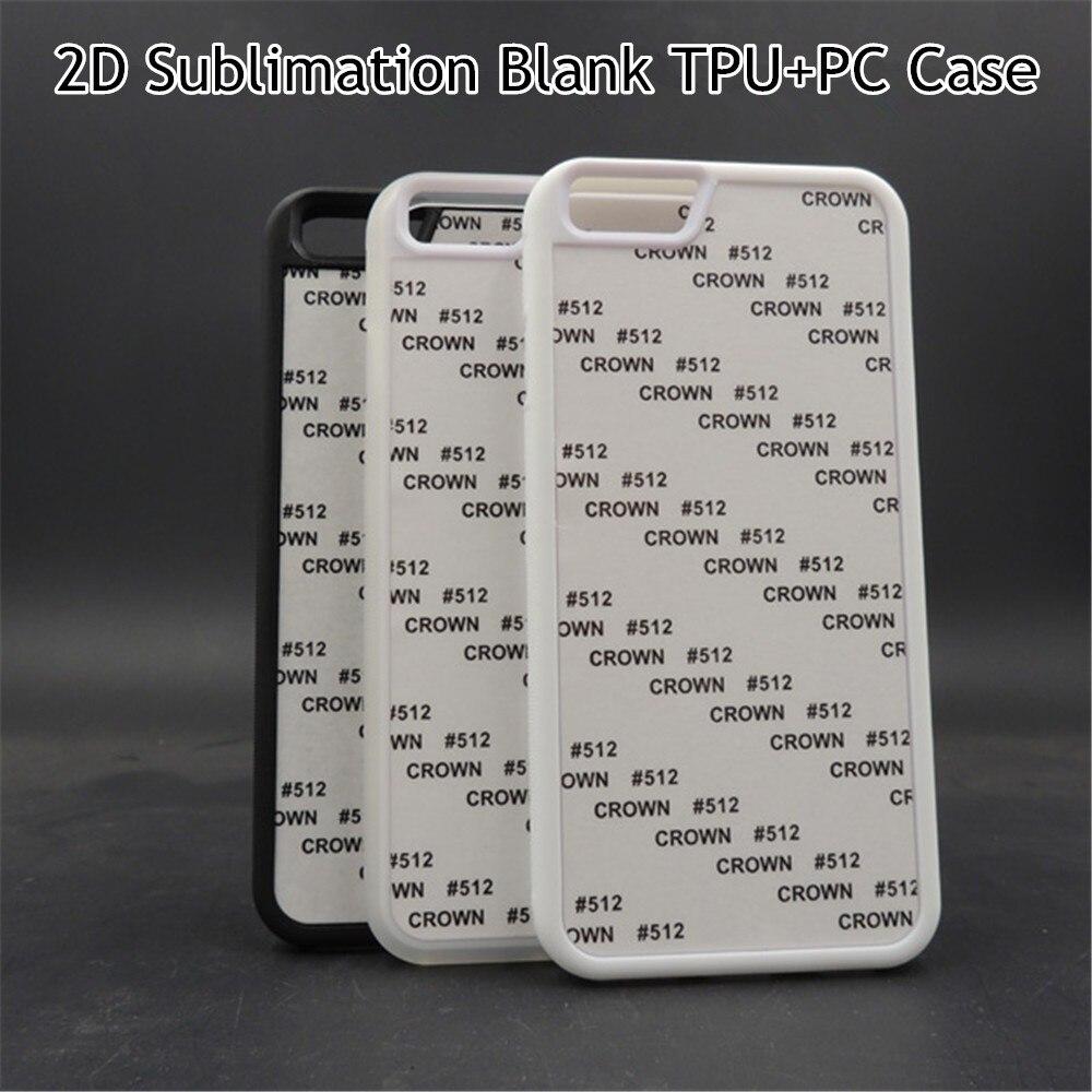 """imágenes para 10 unids/lote 2D En Blanco Sublimación TPU Cubierta Suave Para el iphone 6 6 s 4.7 """"Back Inserciones De Aluminio Pegamento cubierta"""