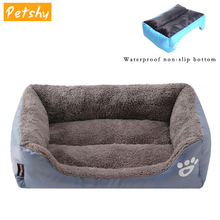 Petshy Pet Sofa Dog Beds Waterproof Bottom Soft Fleece Winter Warm Cat Bed House Small Medium Large Dogs Comfort Mat Nest Kennel