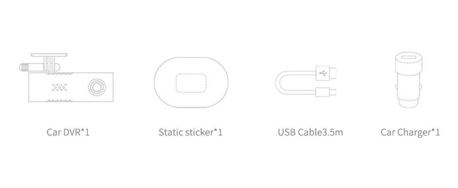 English Version Xiaomi 70 Mai Car Dash Smart WiFi DVR Driving Recorder 130degree Wireless Cam 1080P FHD Nightshot IMAX323 Sensor-104