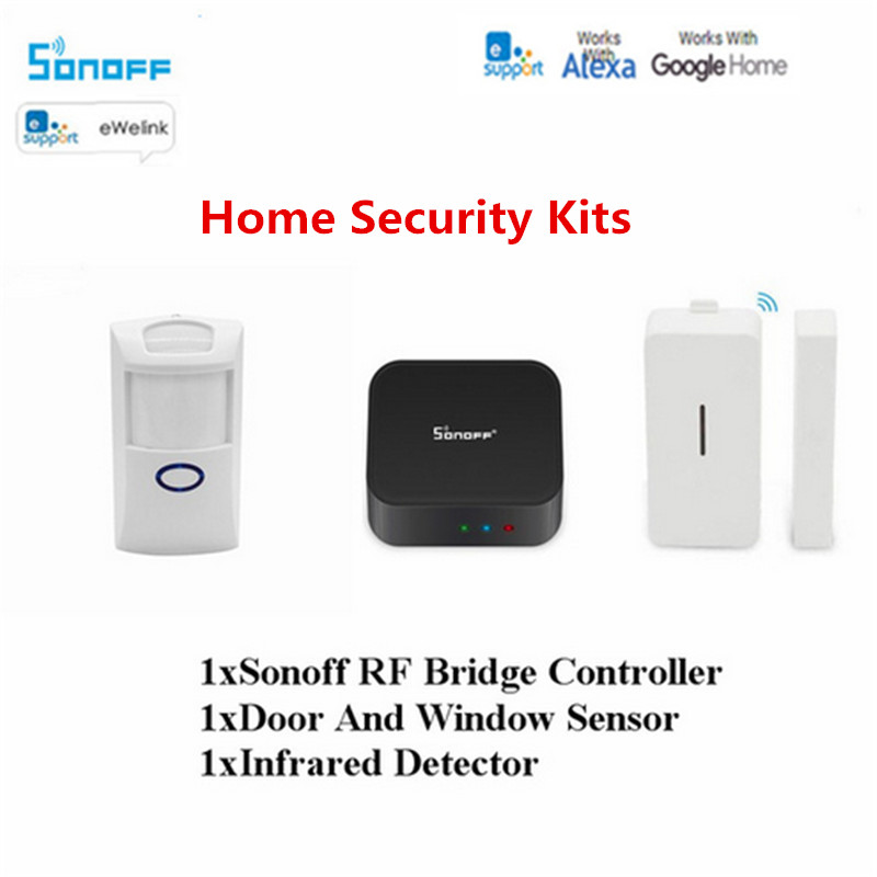 Sonoff RF Bridge 433/PIR2 PIR Sensor+DW1 Door &Window Alarm